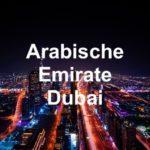 Arabische Emirate Dubai Urlaub Stadt Nacht